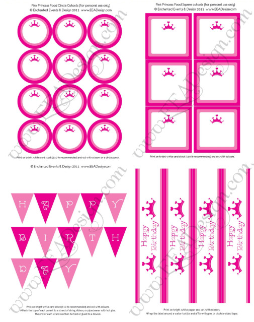 image about Princess Party Printable named Cost-free princess bash printables! - Pleasurable Low-cost or Totally free