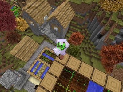 villa en minecraft generada con mods