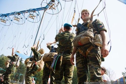 Тренировка войск ВДВ