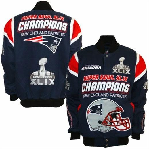 New England Patriots Super Bowl XLIX Champions Cotton Twill Jacket, patriots super bowl big and tall jacket