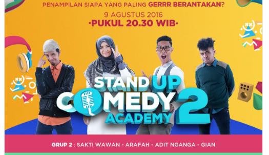 Peserta Stand Up Comedy Academy 2 yang Gantung Mik Tgl 09 Agustus 2016
