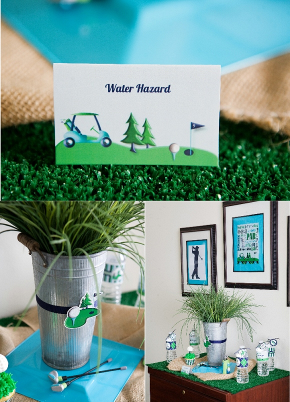 Golf Party Ideas and Printables - via BirdsParty.com