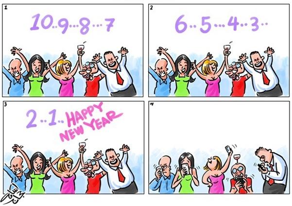 SMARTPHONE humor fun Navidad Año Nuevo Fiesta familia cena uvas