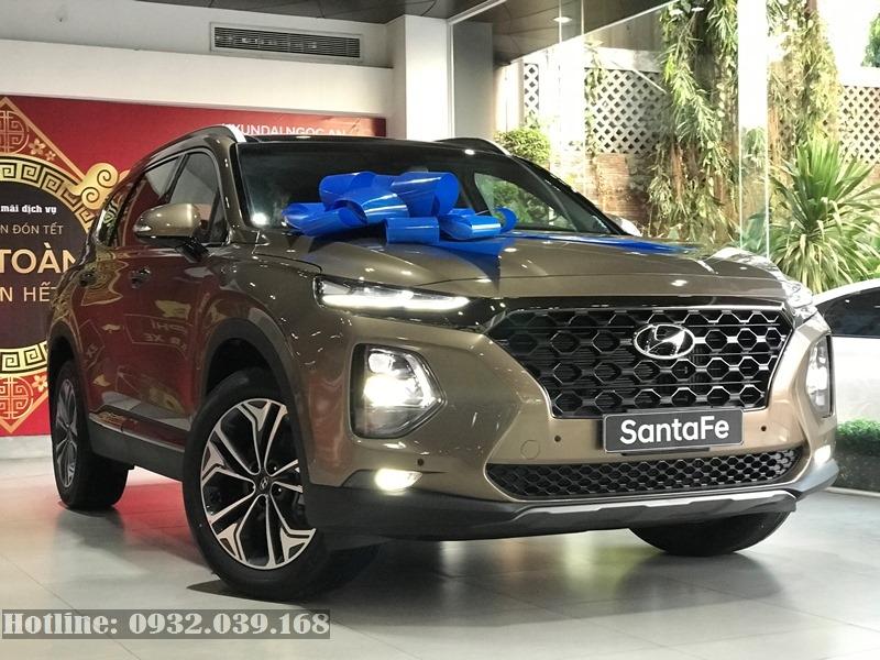 Hình ảnh Chi Tiết Hyundai Santafe 2019 Màu Vàng Cát Nâu