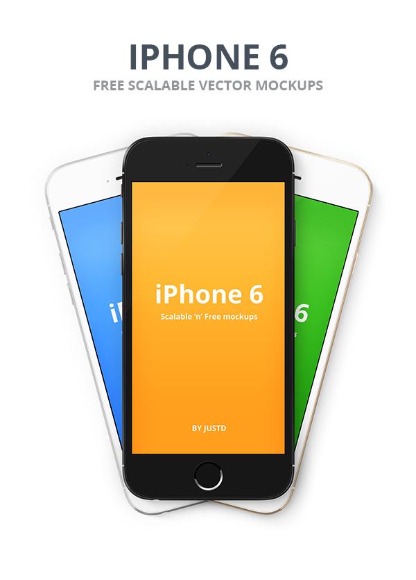 IPhone 6 Vector PSD Mockups