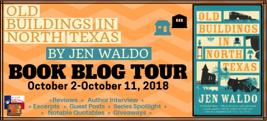 Old Buildings in North Texas book blog tour promotion banner