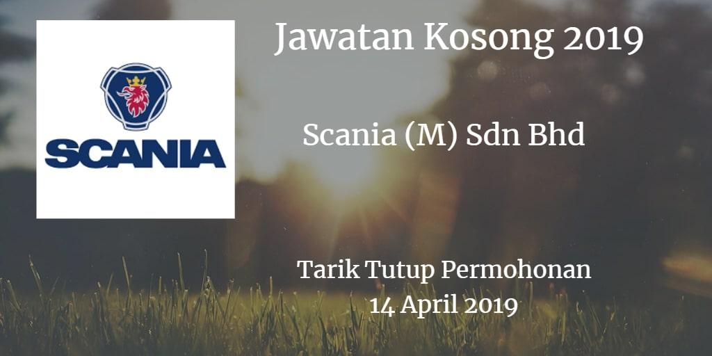 Jawatan Kosong Scania (M) Sdn Bhd 14 April 2019