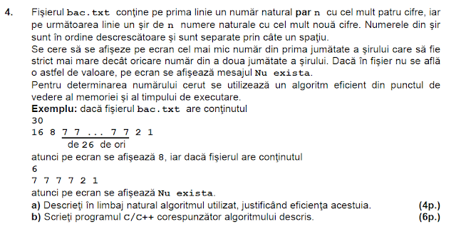 rezolvare model BAC 2014 matematica informatica