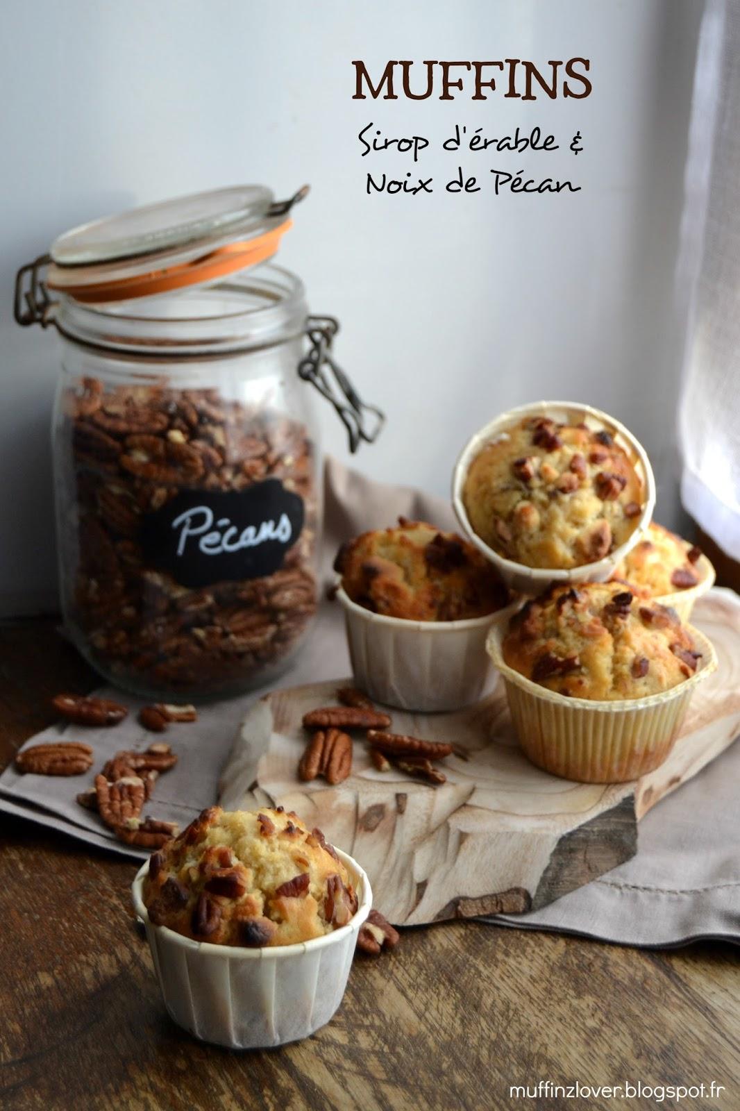 Recette Muffins noix de pécan et sirop d'érable - muffinzlover.blogspot.fr
