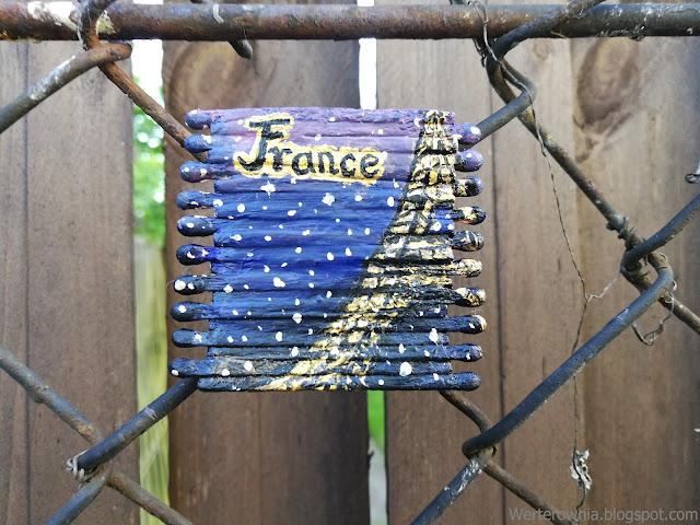 magnes malowany farbkami akrylowymi