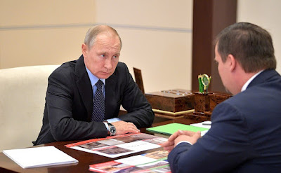 Vladimir Putin had a working meeting with Acting Governor of the Novgorod Region.