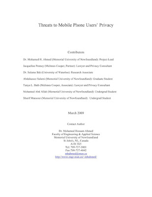 Threats for mobile phone users privacy Download eBook