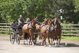 Image: Picture of a horse drawn carriage with four horses at The North of England Open Air Museum, Beamish. (c) FreeFoto.com. Photographer: Ian Britton