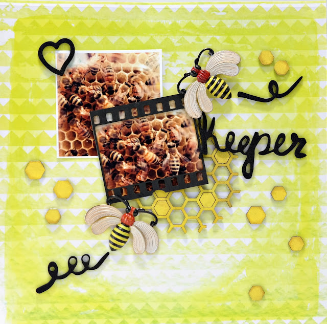 Bee Keeper Layout by Dana Tatar for ColoriQue