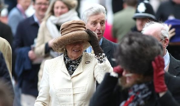 The Duchess is an honorary member of the Jockey Club
