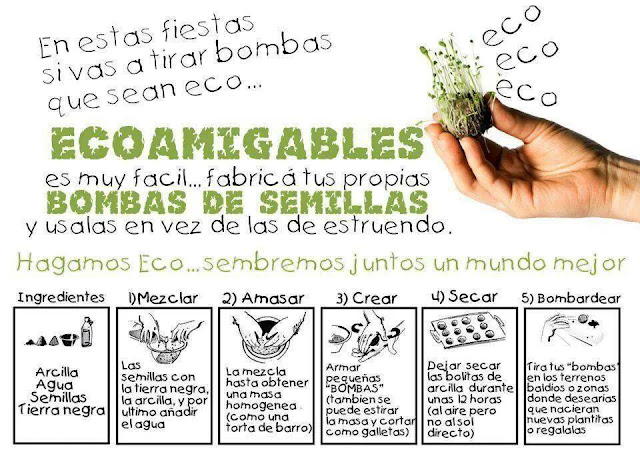 Alternativa para estas fiestas : Bombas de semillas
