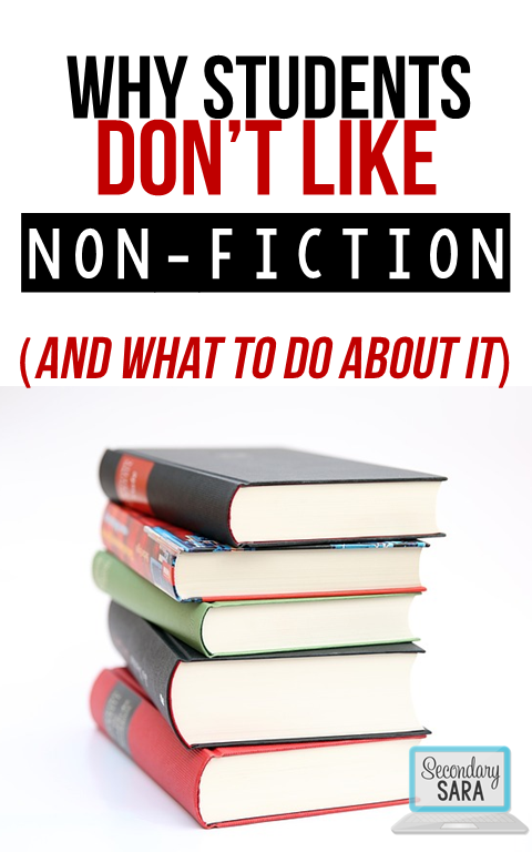 Kids just don't have the same appreciation for non-fiction that they do for fiction. That's normal, and there are reasons why. That's why I'm diving into the topic of why students don't like non-fiction in this blog post - and better yet, I give you some ideas for what to do about it!