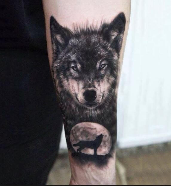 5bbf1292e 130 Best Wolf Tattoo Designs for Men & Women (2018) | Tattoo Ideas