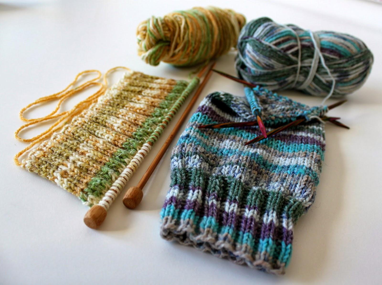 Hand Knitted Things: Sirdar Crofter DK Socks on Straight ...