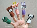 five finger puppets