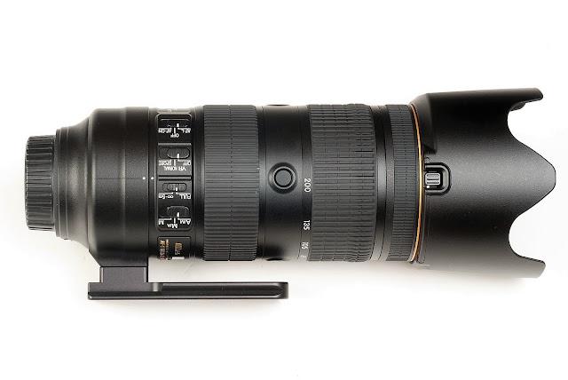 Hejnar H128 Replacement Foot on Nikon 70-200mm f/2.8E FL ED VR