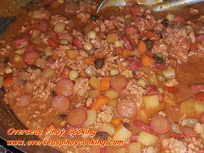 Menudo na Giniling - Cooking Procedure