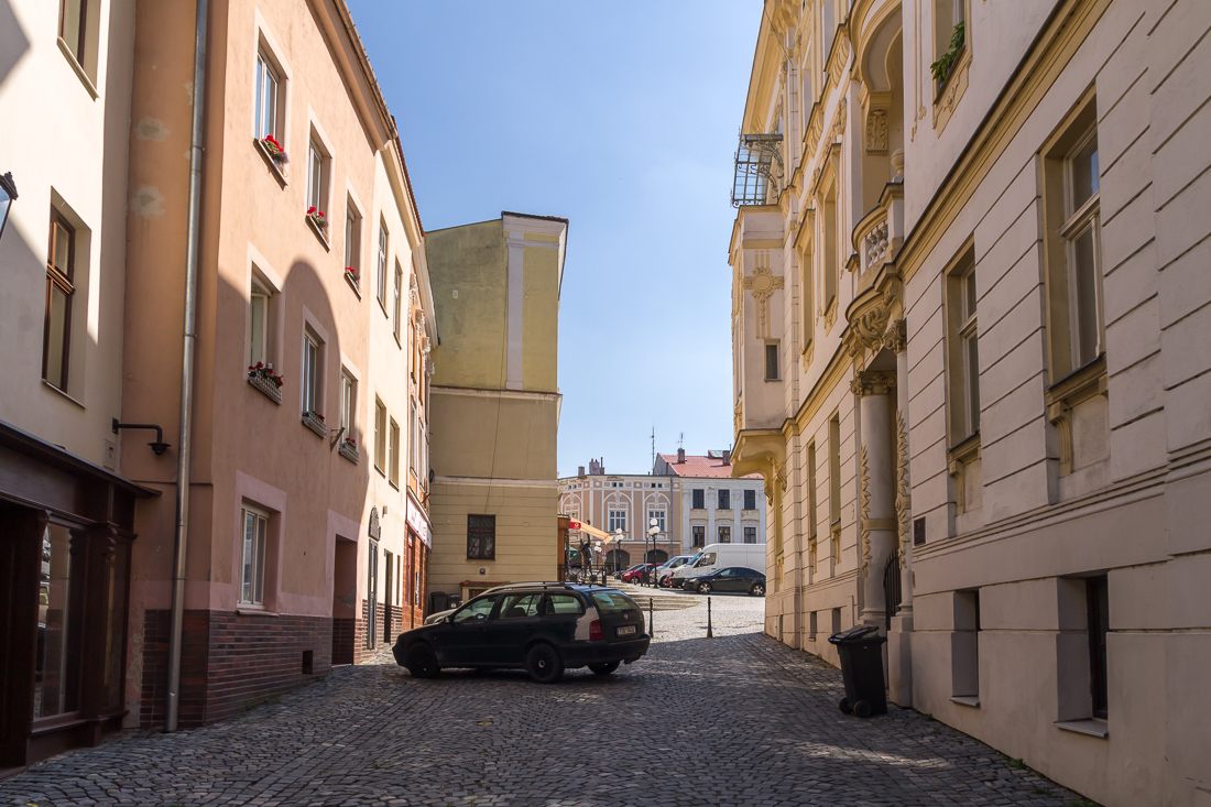 Вход на центральную площадь Пршибора