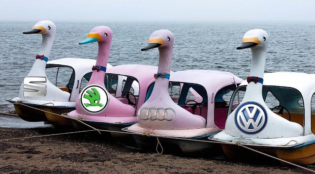 Sympathisch, umweltfreundlich, zeitgemäß, die neuen Erl- äh, Schwan-Könige von VW, Audi, Skoda & Seat.