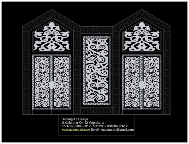 Ornamen Pintu Pintu Masjid Desain Pintu Masjid Gudang Art Design