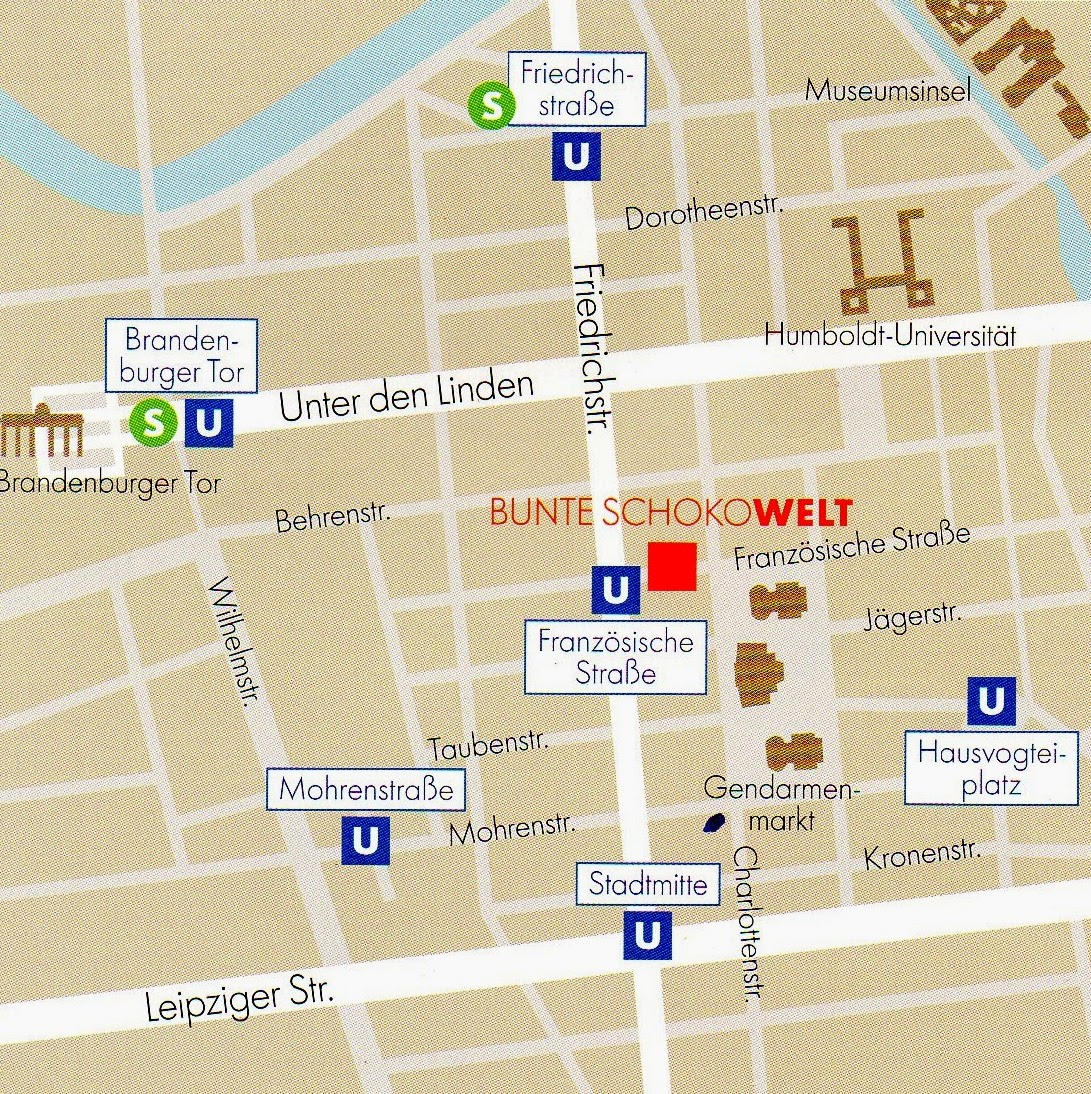 mapa da loja Bunte Schokowelt Ritter Sport