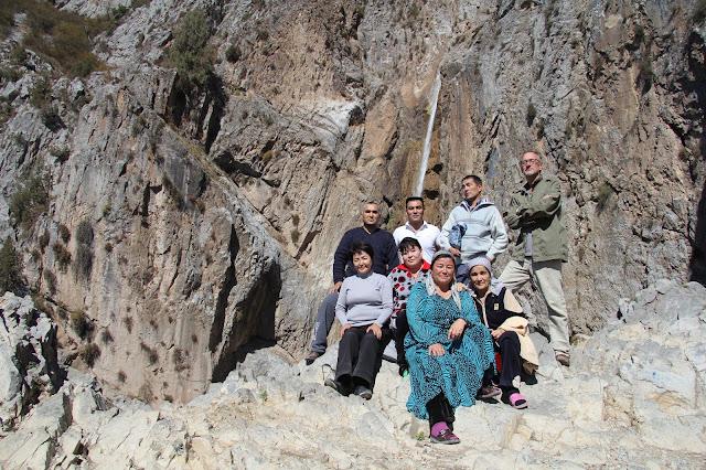 Kirghizistan, Arslanbob, cascade, © L. Gigout, 2012
