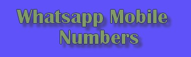 .Whatsapp Mobile Numbers Girls and Boys For Friendship