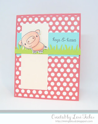 Hogs and Kisses card-designed by Lori Tecler/Inking Aloud-stamps and dies from Reverse Confetti