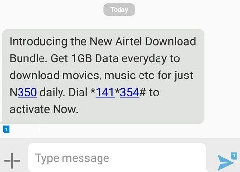 How To Activate Airtel Download Bundle 1GB For N350