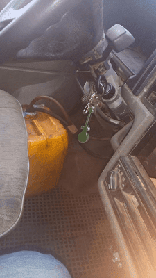 Photo of improvised fuel tank goes viral