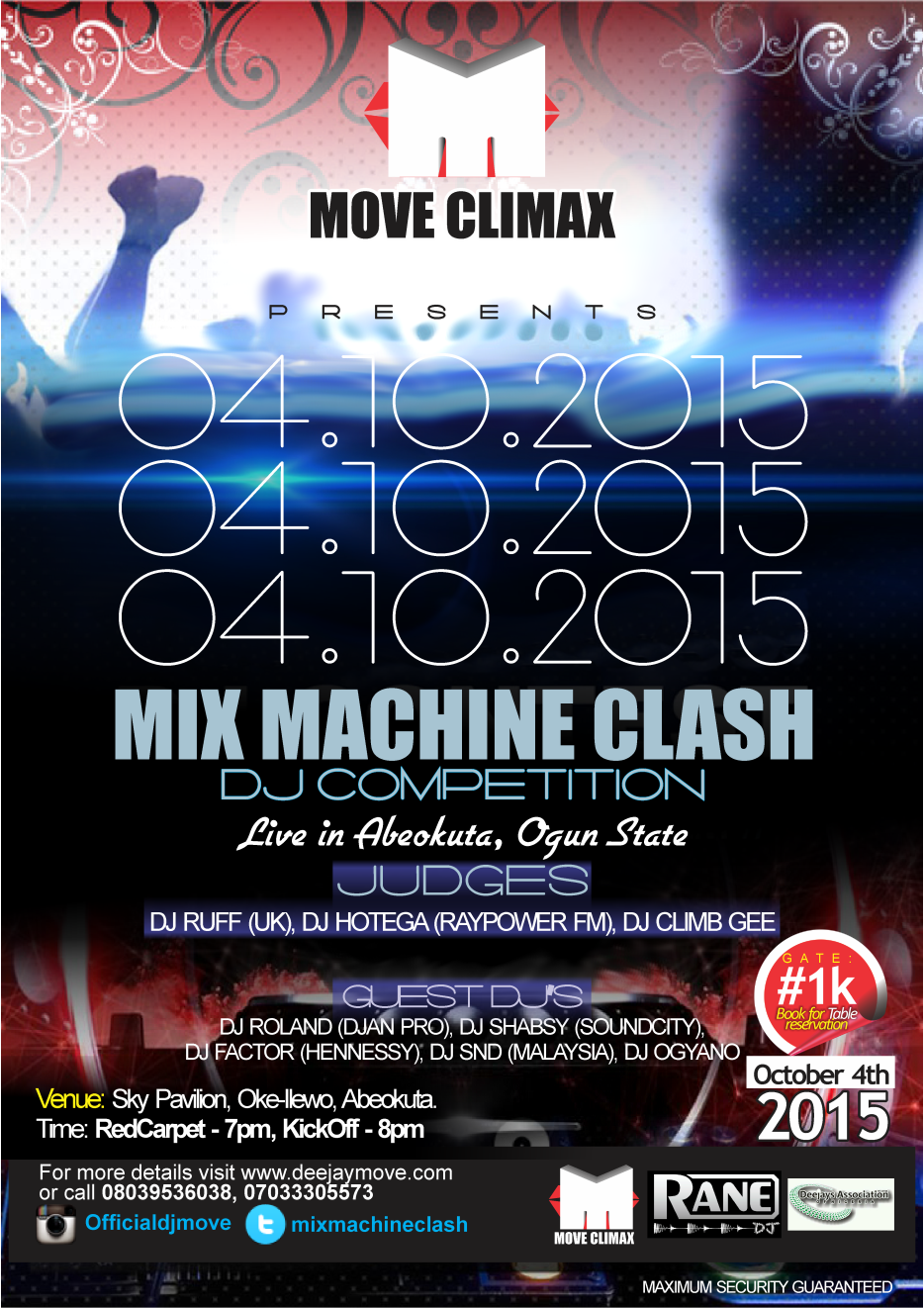 MIX MACHINE CLASH (DJ CHAMPIONSHIP) ~ DJ MOVE
