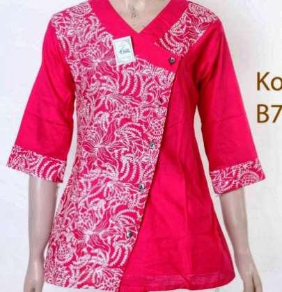 Model Batik Kombinasi Atasan Model Batik 2019
