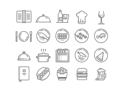 20 Free Food Icons PSD