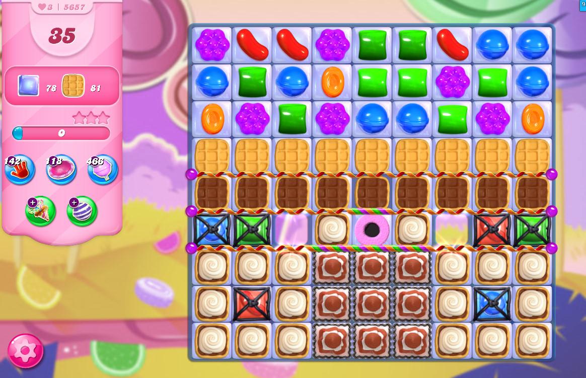 Candy Crush Saga level 5657