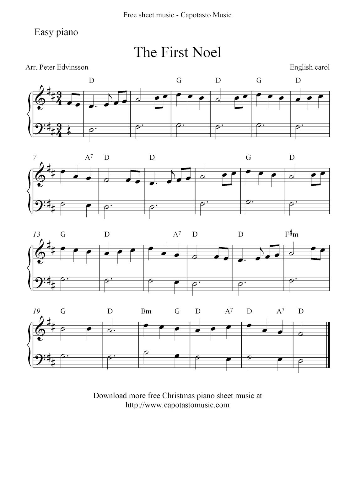 Bewitching image regarding christmas songs piano sheet music free printable