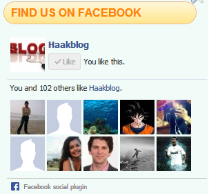 Facebook Like Box Widget For Blogger