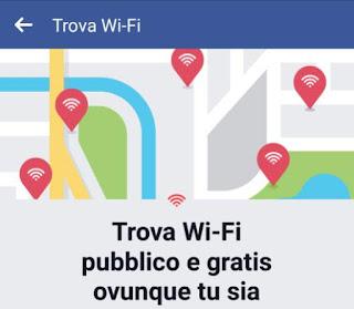 accesso wifi da Facebook