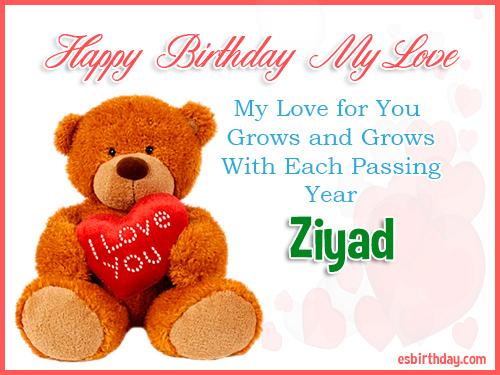 Ziyad Happy Birthday My Love