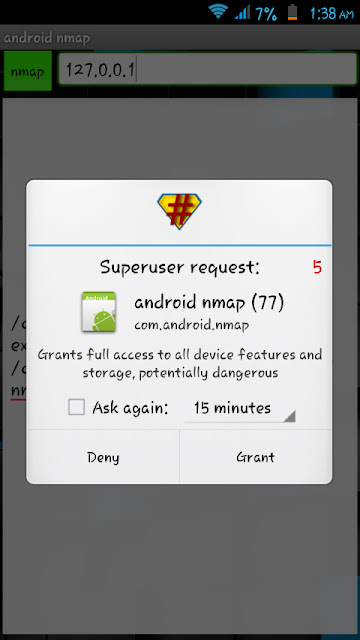 aNmap grant access