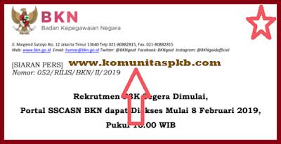 Jadwal Pendaftaran P3K Tahap I Khusus K-II 2019