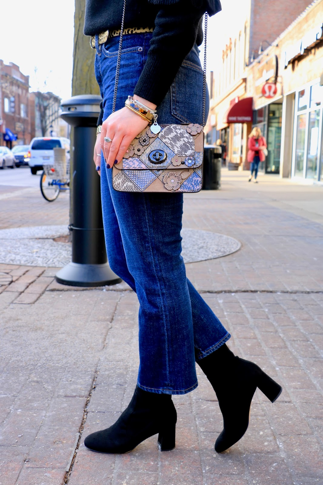 Nyc fashion blogger Kathleen Harper showing how to wear sock booties
