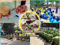 MTsN 9 Sleman Peringati HSN dengan Gerakan Baca Al-Qur'an Follow In The Line