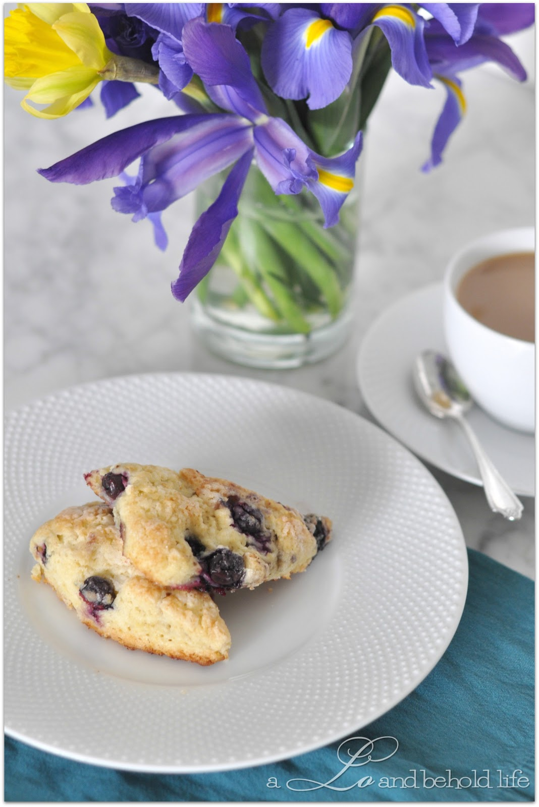 Lemon Blueberry Scones | A Lo and Behold Life