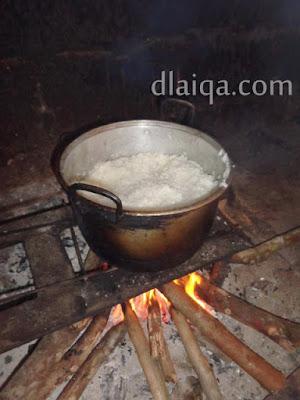 masukkan nasi ke dalam dandang