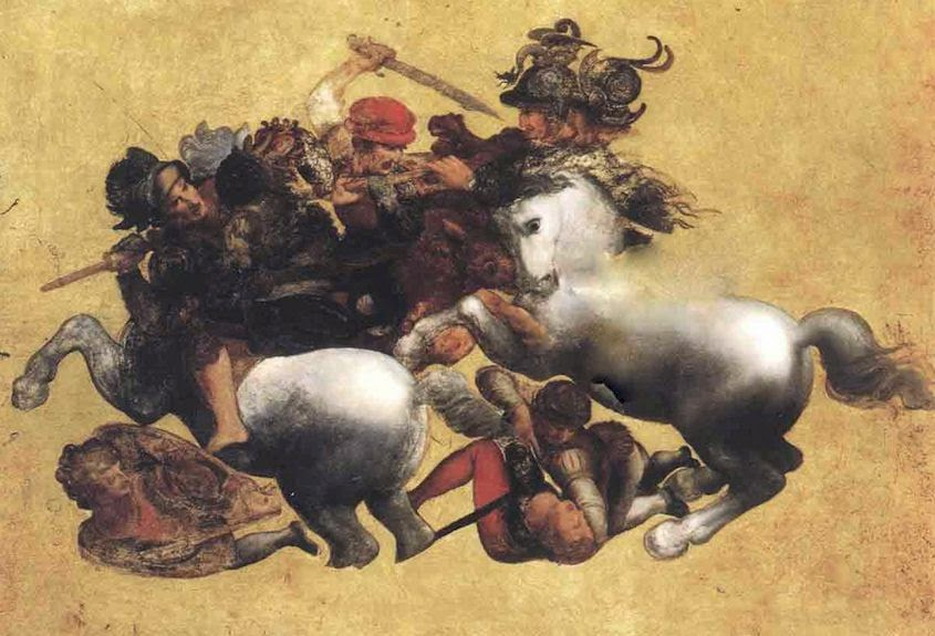 Tavola Doria copy of Leonardo da Vinci's Battle of Anghiari